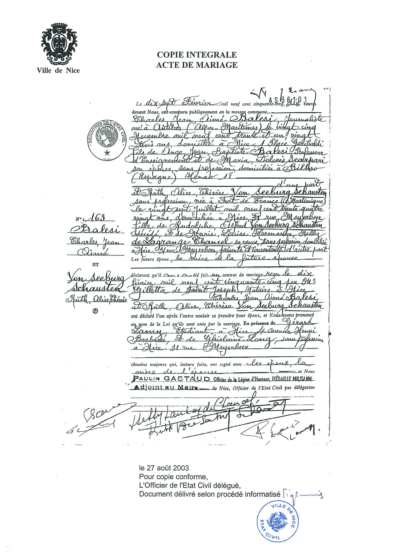 a storia de a famiglia histoire de la famille family history a famiglia balesi - Mariage Francais Etranger Documents
